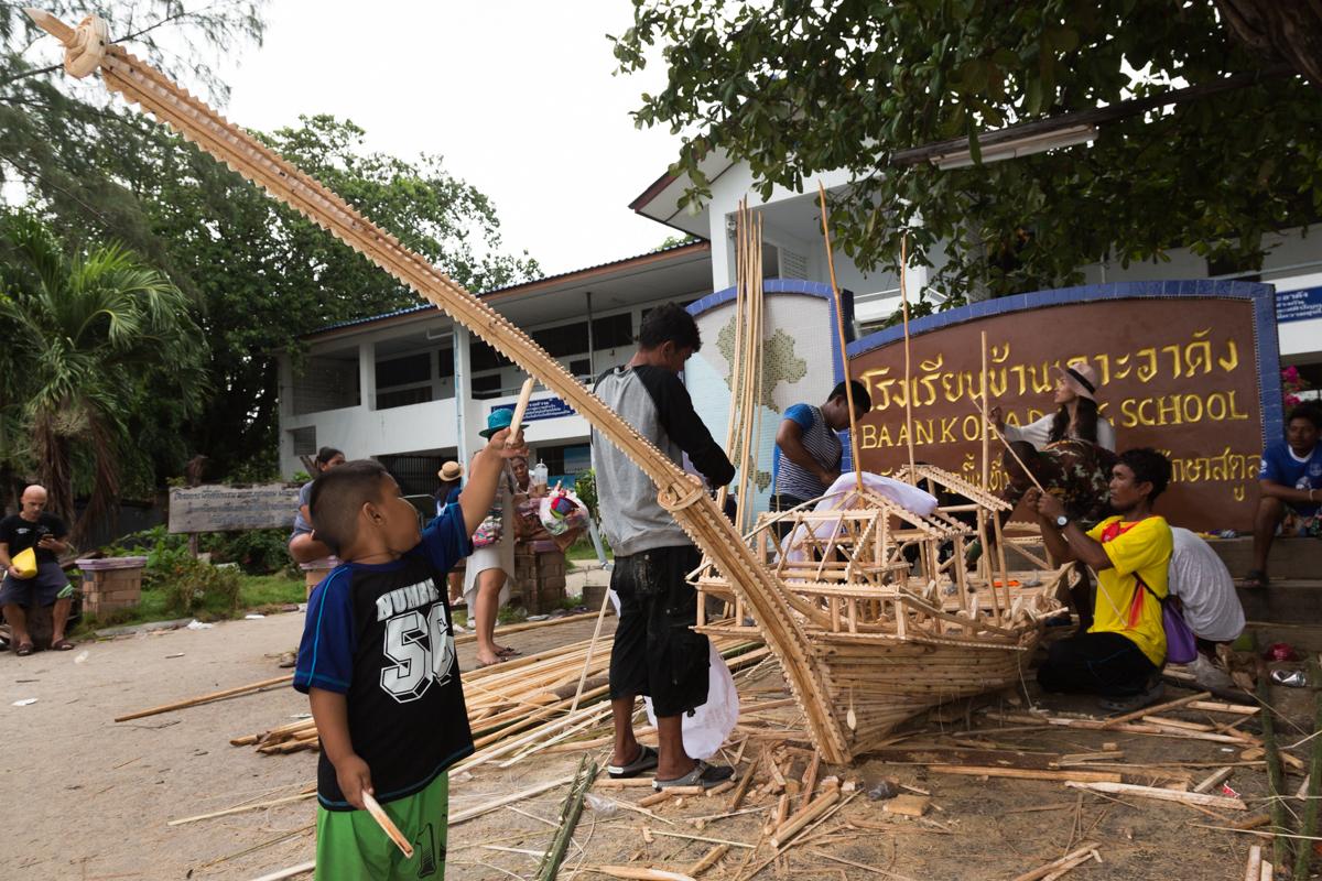 urak lawoid building ceremonial boat
